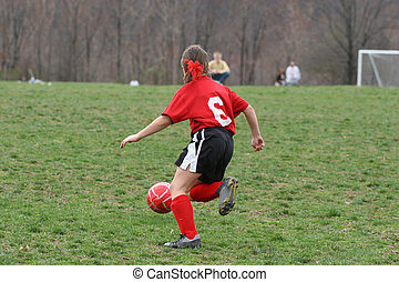 Girl on Soccer Field 1
