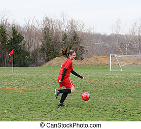 Girl on Soccer Field 2