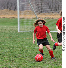 Girl on Soccer Field 4
