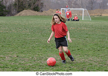 Girl on Soccer Field 5