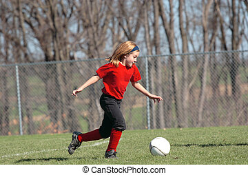 Girl on Soccer Field 7
