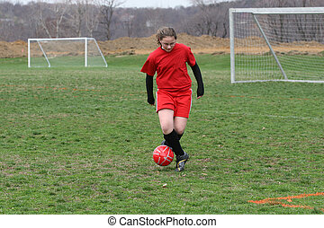 Girl on Soccer Field 9