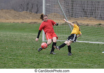Girls on Soccer Field