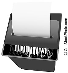 Security Paper Shredder - Paper shredder background....