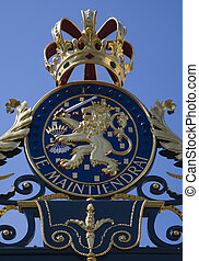 Royal gate 2 - Royal Arms on the Palace gate, The...
