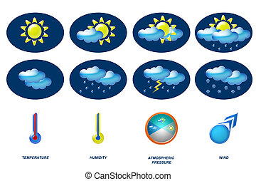 weather icons for forecast, meteorology, temperature,...