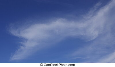 Whisp of a Cloud - A whisp of a cloud on an otherwise clear...