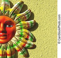 人物面部影像逼真, 鮮艷, 太陽
