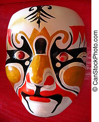 Lone Masquerade - Two traditional Chinese opera masks...