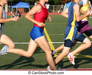 Distance Runners - This was taken of students running the...