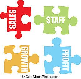 business jigsaw colour