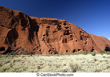 Sacred Ayers Rock - A section of Ayers Rock in the outback...