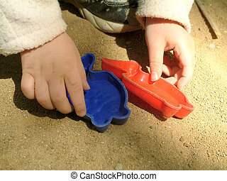 sand pit - Toys in the sand