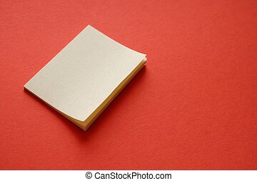 Postit - Post it on a red background