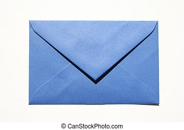Blue envelope - Blue enveloppe isloated on white background
