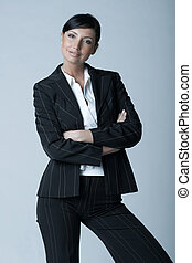 Business Woman Ag - Beautiful and sexy brunette business...