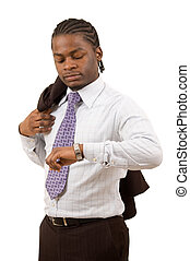 Time for Business - This is an image of a black businessman...
