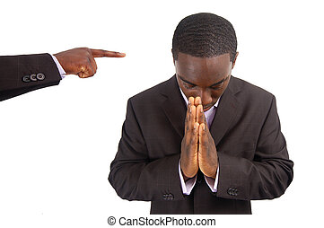 Business Persecution - This is an image of a man being...