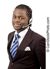 Good Service - This is an image of a male call operator This...