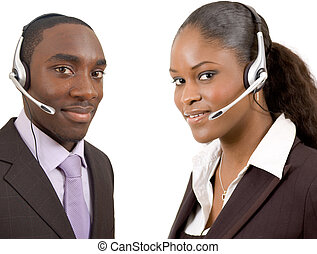 Customer Support - This is an image of a male and female...