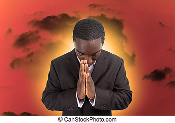 Spiritual Hardship - This is an image of a man whose...