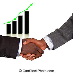 High Profits - This is an image of two businessmen...