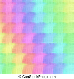 Pastel rainbow - tender pattern