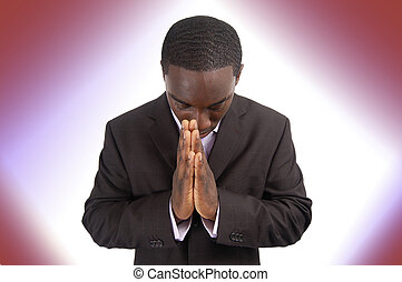 Prayer Focus - This is an image of a businessman focussing...