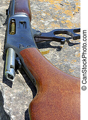 Loaded Rifle - A rifle that has been loaded with a round of...