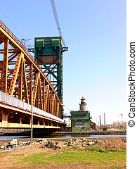 Lift bridge 60889 - The lift bridge over the access canal to...