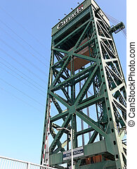 Lift bridge tower 60891 - One lift bridge tower over the...