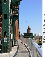 Lift bridge walkway 6089 - The walkway over the lift bridge...