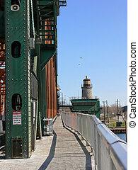 Lift bridge walkway 6089 - The walkway over the lift bridge...