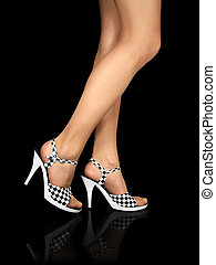 Sexy legs with high heels shoes +clipping path - Sexy legs...