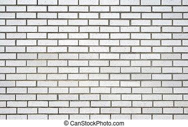 White brick wall - Brickwork. White brick wall.