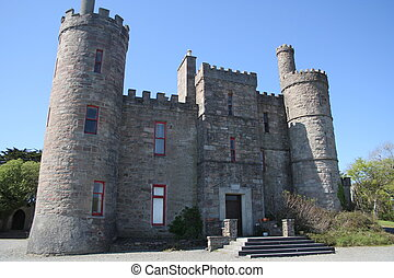Irish castle dwelling County Mayo Southern Ireland.