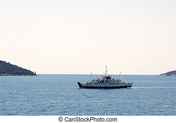 Ferry boat - Touristic ferry boat in the sun on the Adriatic...