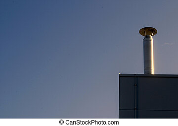 Metallic chimney - New metallic shimney on the factory roof