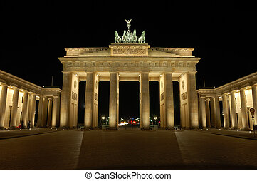 Brandenburger Gate in Berlin, Germany at Night