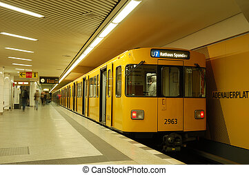 Metro Station - Train in the Metro station in berlin