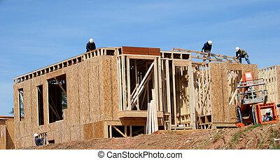 Framers - Several Carpenters framing a new condo complex