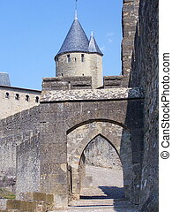 Carcassonne - The walls of Carcassonne, France