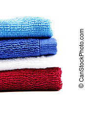 Colorful fluffy towels