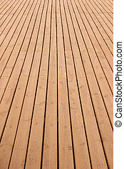 Wooden deck perspective - Wooden planks floor fading away to...
