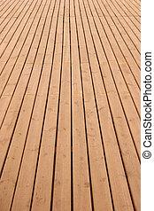 Wooden deck perspective - Wooden planks floor fading away to...