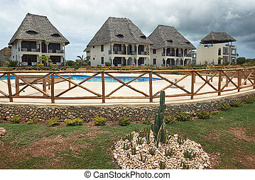Tropical holiday Holiday hotel and pool, private villas in a...