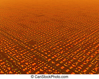 network - Abstract rendering of a grid or network or the...