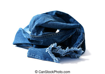 Blue jeans - Trousers made of blue denim jeans
