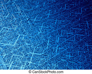 Diagonal fiber tangle - Deep blue wire 3d texture