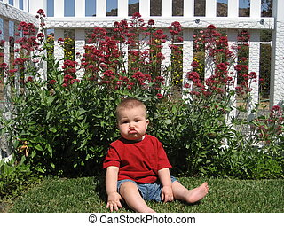 Baby Boy and Whtie Fence